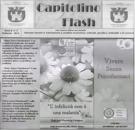 Capitolino Vivere Senza Psicofarmaci